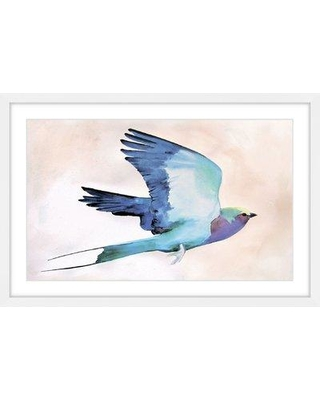 """Marmont Hill 'Lilac Roller' by Christine Lindstrom Framed Painting Print MH-CHRLIN-86-WFP- Size: 12"""" H x 18"""" W x 1.5"""" D"""