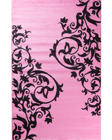 Concord Global Trading Alisa Collection Tatoo Scroll Rectangular Rug, One Size , Pink