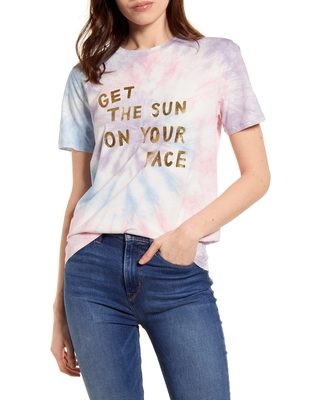 Women's Ban. do Sun On Your Face Classic Graphic Tee, Size Small - Purple