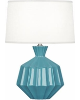 "Robert Abbey Orion 17 3/4""H Steel Blue Ceramic Accent Lamp"