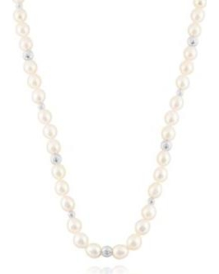 Belk & Co. Gray Freshwater Pearl Strand and Sterling Silver Bead Necklace