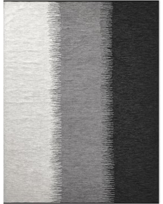 Perennials Ikat Stripe Indoor/Outdoor Rug, 9x12u0027, Black