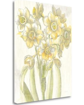 """Tangletown Fine Art 'Belle Fleur Yellow IV Crop' by Sue Schlabach Painting Print on Wrapped Canvas WA618649-2024c Size: 24"""" H x 20"""" W"""