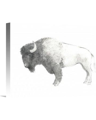 """East Urban Home 'Bison Dark' Graphic Art Print EUHE3242 Size: 16"""" H x 20"""" W Format: Wrapped Canvas"""