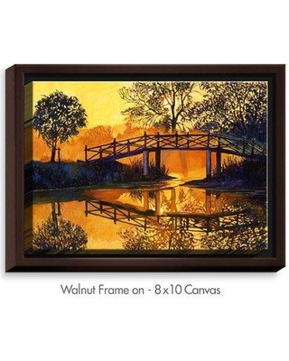 """DiaNocheDesigns 'Solitude' by David Lloyd Glover Painting Print on Wrapped Framed Canvas DNOC1676 Size: 17.75"""" H x 21.75"""" W x 1.75"""" D Frame Color: Walnut"""