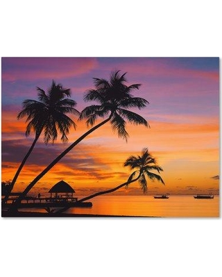 """Trademark Fine Art 'Beachy 33' Photographic Print on Wrapped Canvas ALI19146-C Size: 14"""" H x 19"""" W"""