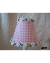 "Silly Bear Gardens Of Gingham 11"" Fabric Empire Lamp Shade LS-3-4 Color: Pink"
