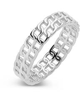 Women's 2 Row Chain Ring - Silver
