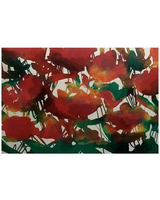 Simply Daisy 2' x 3' Abstract Floral Floral Print Indoor/Outdoor Rug