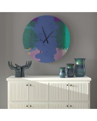 East Urban Home Oversized Mordecai Wall Clock X113537069 Size: Small