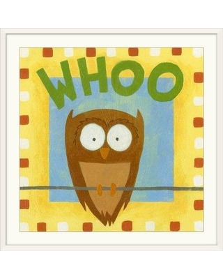 "Great Big Canvas 'Whoo' Megan Meagher Textual Art 1139299_1_ Size: 20"" H x 20"" W x 1"" D Format: White Framed"