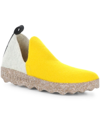 Asportuguesas by Fly London City Slip-On Sneaker, Size 5.5Us in 003 Yellow/Off White/Black at Nordstrom