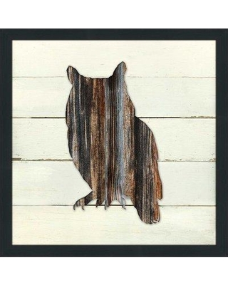 "Millwood Pines 'Woodland Owl' Framed Graphic Art Print W000110687 Size: 39.5"" H x 39.5"" W x 0.75"" D"