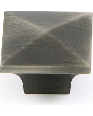 Stone Mill Hardware Cairo 1-1/4 in. Weathered Nickel Square Cabinet Knob (10-Pack)