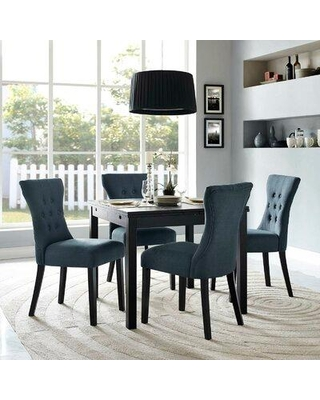 House of Hampton® Brightling Upholstered Dining Chair X111984161 Upholstery Color: Gray