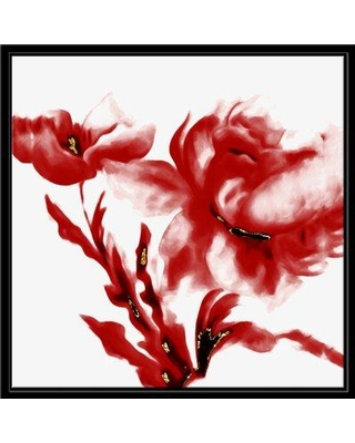 Winston Porter 'Crimson Flower' Framed Graphic Art Print CJ120632