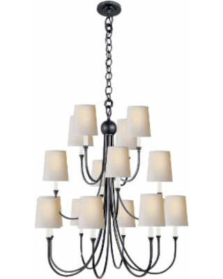 Visual Comfort and Co. Thomas O'Brien Reed 33 Inch 16 Light Chandelier - TOB 5019BZ-NP