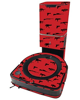 MightySkins Skin Compatible with iRobot Roomba s9+ Vacuum - Guns   , Durable, and Unique Vinyl Decal wrap Cover   Easy to Apply, Remove, and Change Styles   Made in The USA