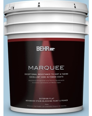 BEHR MARQUEE 5 gal. #M500-2 Early September Flat Exterior Paint and Primer in One
