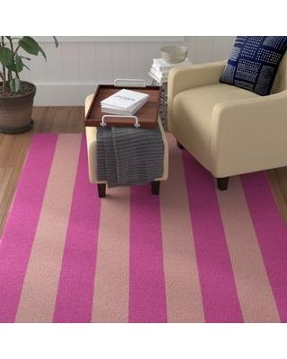 Conneaut Hand-Woven Wool Pink/Peach Area Rug Red Barrel Studio Rug Size: Rectangle 9' x 12'