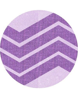 East Urban Home Abstract Wool Purple Area Rug W002501333 Rug Size: Round 3'