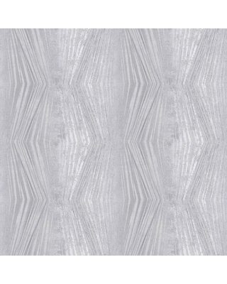 Graham & Brown Vermeil Stripe Silver and Grey Removable Wallpaper Sample, Silver/Gray