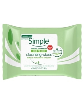 Simple Kind to Skin Cleansing Facial Cleansing Wipes For Clean Skin and Makeup Remover For Sensitive Skin, 25 ct | CVS