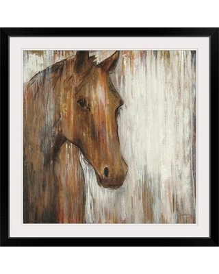 """Great Big Canvas 'Painted Pony' by Liz Jardine Painting Print 1896550 Size: 24"""" H x 24"""" W x 1"""" D Format: Black Framed"""