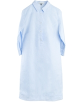 Women's Black Cotton Cleverly Tailored Pinstripe Pale Blue Fitted Shirtdress With Red Stripe - Eloise Red Stripe XXL Alex Black Collection