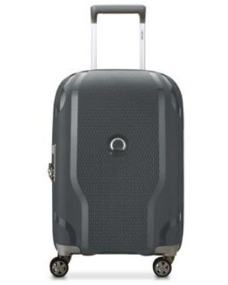 Delsey Black Clavel Expandable Spinner Upright
