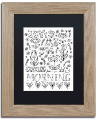"Trademark Art 'Joy in the Morning' Framed Graphic Art Print ALI5527-T1 Matte Color: Black Size: 14"" H x 11"" W x 0.5"" D"