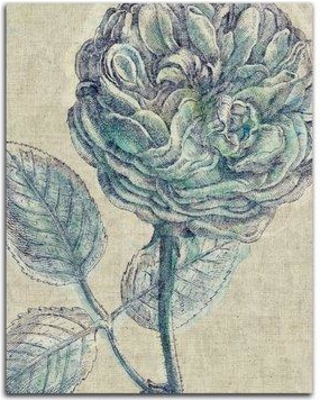 Get This Deal On Winston Porter Belle Fleur Iii Crop Linen Graphic Art Print Format Paper Canvas Fabric Paper In Brown Blue Size 20 H X 16 W X 0 01 D
