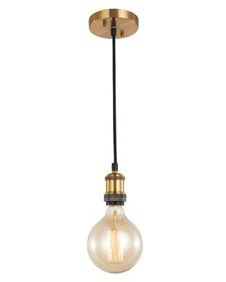 Savings On Breakwater Bay Pinnix 1 Light Single Bulb Pendant Finish Brass In Antique Brass Chrome Antique Nickel Size Mini Less Than 6 Wide Wayfair
