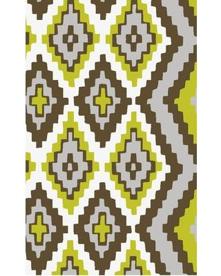 """Beth Lacefield for Surya Alameda Hand woven Brown/Green Area Rug AMD1049 Rug Size: Runner 2'6"""" x 8'"""