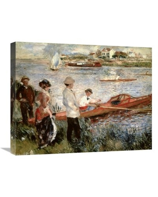 """'Oarsmen at Chatou' Print on Canvas East Urban Home Size: 20"""" H x 24"""" W x 2"""" D"""