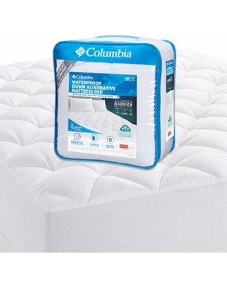 Sales Are Here 60 Off Columbia Waterproof Down Alternative Mattress Pad White Queen