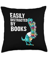 Best Read Novel Bookstore & Bookshop Library Arts Funny Reading Books Gift For Men Women Bookworm Story Reader Throw Pillow, 18x18, Multicolor