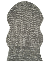 Safavieh Aindreas Faux Fur Animal Rugs, One Size , Gray