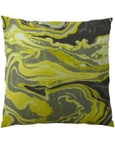 """Plutus Brands Medici Marble Ink Handmade Throw Pillow PPTS2401 Size: 20"""" H x 20"""" W"""