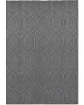 Gray Damask Tufted Area Rug 7'X10' - Project 62