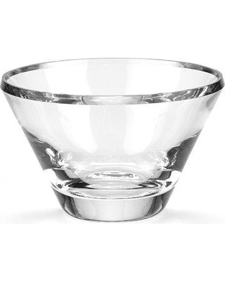 "Badash Crystal Trillion Serving Bowl, Glass in Clear, Size 6""H X 8""W X 8""D 