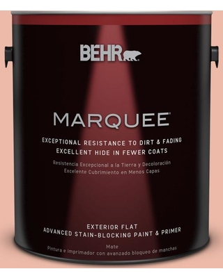 BEHR MARQUEE 1 gal. #210C-3 Jovial Flat Exterior Paint and Primer in One