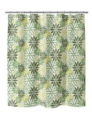 Aristomache Floral Single Shower Curtain Ebern Designs Color: Green