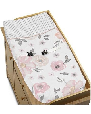 Sweet Jojo Designs Watercolor Floral Changing Pad Cover Pad-WatercolorFloral- Color: Light Gray/Cream