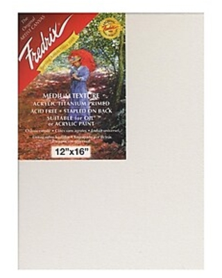 Fredrix Red Label Stretched Cotton Canvas 12 in. x 16 in. each [Pack of 2],Size: med