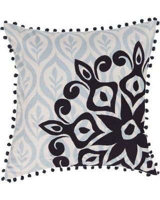 Surya Overlapping Cotton Throw Pillow KS01 Color: Black Fill Material: Polyester