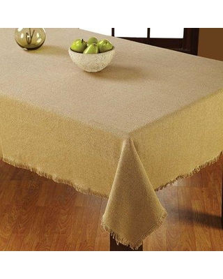 """August Grove Arvelo Cotton Table Cloth AGTG5089 Size: 120"""" W x 60"""" D Color: Natural"""