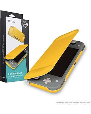 Hyperkin Foldable Case and Screen Protector Set for Nintendo Switch Lite (Yellow) - Nintendo Switch
