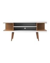 """Manhattan Comfort Utopia 53.14"""" Tv Stand with Splayed Wooden Legs and 4 Shelve"""