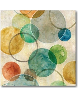 Ebern Designs 'Abstract Circles II' Graphic Art Print on Wrapped Canvas EBND1178